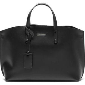 Černá kožená kabelka Luisa Vannini Cristine