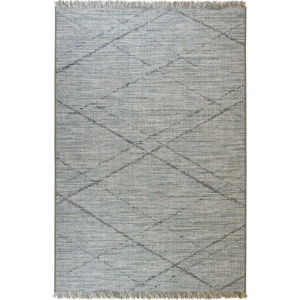 Modro-šedý venkovní koberec Floorita Gipsy, 130 x 190 cm