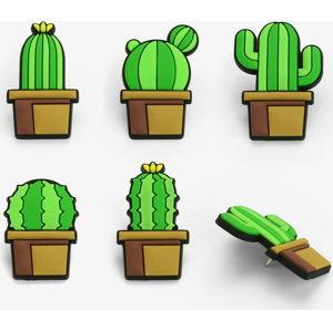 Sada 5 přípínáčků Just Mustard Cactus