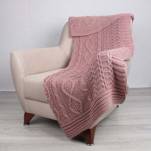 Růžový přehoz Teto,130 x 170cm