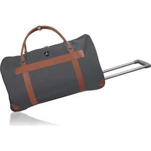 Tmavě šedá cestovní taška na kolečkách GENTLEMAN FARMER Oslo, 93 l
