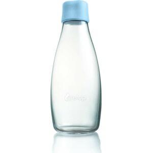 Světle modrá skleněná lahev ReTap s doživotní zárukou, 500ml
