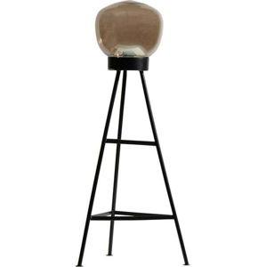 Černá volně stojací lampa BePureHome Dome, výška 84 cm