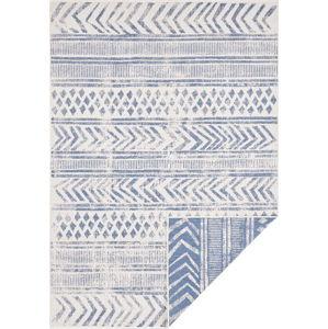 Modro-krémový venkovní koberec Bougari Biri, 80 x 150 cm