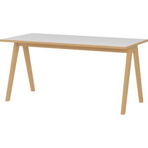 Bílo-hnědý psací stůl Germania Helsinki, šířka 160 cm