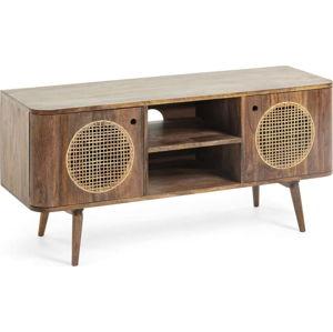 Hnědý televizní stolek z mangového dřeva La Forma, 120 x 40 cm