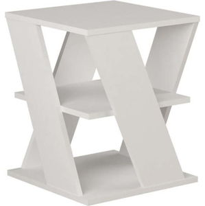 Bílý příruční stolek Cyclo White