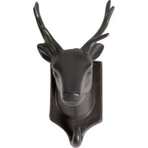 Černá porcelánová závěsná dekorace WOOOD Nona Deer