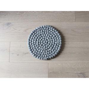 Ocelově šedý kuličkový vlněný dětský podsedák Wooldot Ball Chair Pad, ⌀ 30 cm