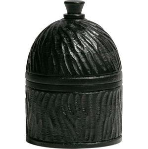 Černá úložná dóza ze dřeva mango WOOOD Hix