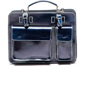 Tmavě modrá kožená kabelka Luisa Vannini Gianna