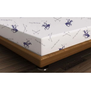 Bavlněné prostěradlo Polo Purple, 240x260cm