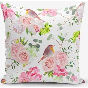 Povlak na polštář s příměsí bavlny Minimalist Cushion Covers Colorful Bird Duro, 45 x 45 cm