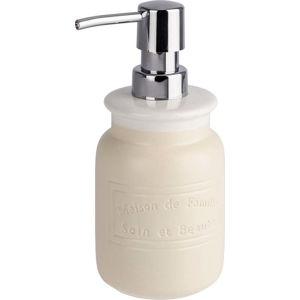 Krémově bílý keramický dávkovač mýdla Wenko Maison, 420 ml