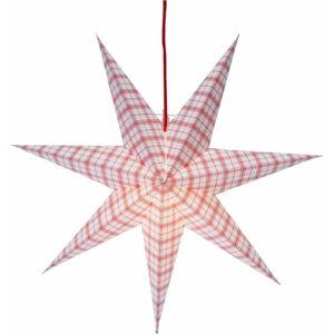 Bílo-červená světelná dekorace Best Season Lisa, výška 54 cm