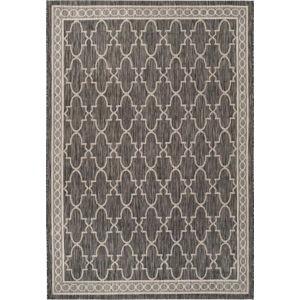 Černobéžový koberec vhodný i na venkovní použití Safavieh Grenada, 231x 160 cm