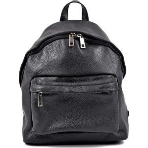 Černý kožený batoh Roberta M Amalfi