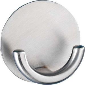 Samodržící háček z nerezové oceli Wenko Strip-it Rondo