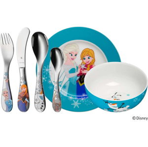 6dílná sada dětských nerezových příborů a nádobí WMF Frozen