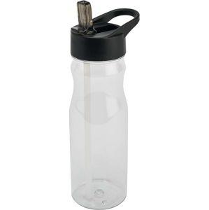 Černá lahev s víkem a brčkem Addis Bottle Clear And Black, 700 ml