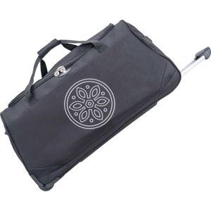 Černá cestovní taška na kolečkách GERARD PASQUIER Miretto, 91 l