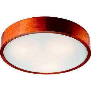 Hnědé kruhové stropní svítodlo Lamkur Plafond, ø 47 cm