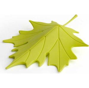 Zelený dveřní klín ve tvaru listu Qualy&CO Autumn