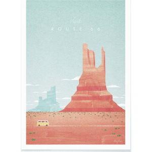 Plakát Travelposter Route 66, A3