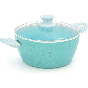 Modrý hrnec s pokličkou Bisetti Miss Gourmet Casseruola,ø24cm