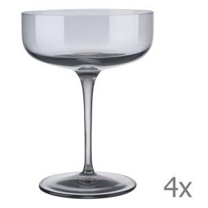Sada 4 šedých sklenic na šampaňské Blomus Fuum