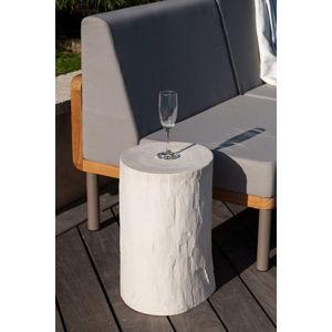 Bílý zahradní odkládací stolek Ezeis Ecotop, ⌀ 35 cm