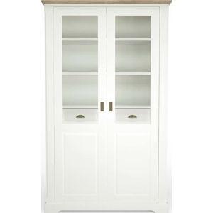 Bílá dřevěná vitrína Artemob Campton Dino