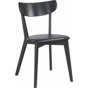 Černá dubová jídelní židle Rowico Ami