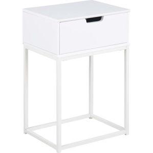 Bílý noční stolek Actona Mitra,40x30cm