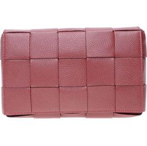 Vínově červená kožená taška přes rameno Isabella Rhea