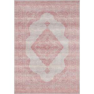 Světle červený koberec Nouristan Carme, 160 x 230 cm