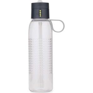 Šedá sportovní láhev s počítadlem plnění Joseph Joseph Dot Active, 750 ml