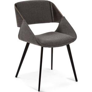 Tmavě šedá jídelní židle La Forma Herrick
