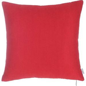 Červený povlak na polštář Apolena Simple, 43 x 43 cm