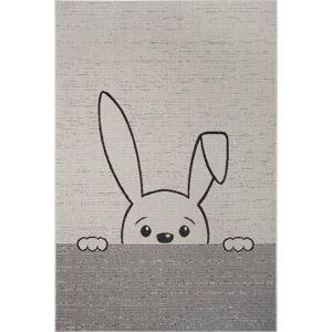 Šedý dětský koberec Ragami Bunny, 120 x 170 cm