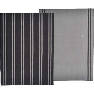 Set 2 černo-šedých utěrek z bavlny Södahl