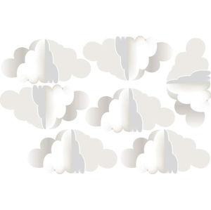 Sada 7 nástěnných samolepek Dekornik 3 Clouds