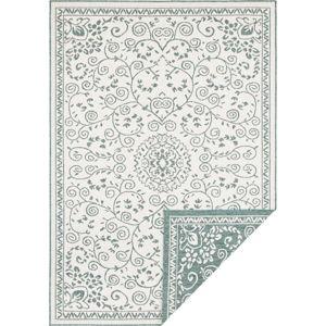 Zeleno-krémový venkovní koberec Bougari Leyte, 200 x 290 cm