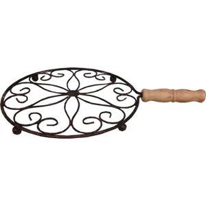 Kovová podložka pod horké nádoby s dřevěnou rukojetí Antic Line