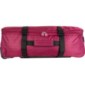 Růžová cestovní taška na kolečkách Lulucastagnette Rallas, 91l