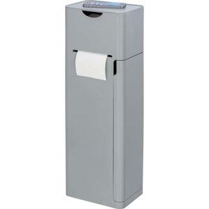 Šedý stojan na toaletní papír s WC kartáčem Wenko Imon