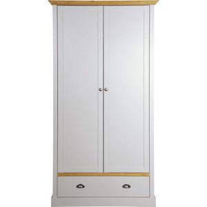 Šedo-bílá šatní skříň Steens Sandringham, 192 x 104 cm
