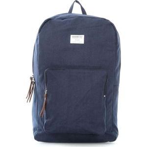 Tmavě modrý batoh s koženými detaily Sandqvist Kim
