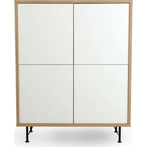 Bílá skříň Tenzo Flow, 111x137cm