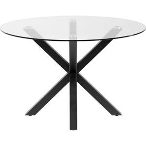 Kulatý jídelní stůl se skleněnou deskou La Forma, ø 119 cm